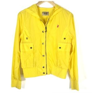 Juicy Couture Yellow Pink Scotty Dog Windbreaker